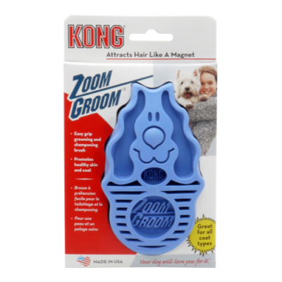 Zoom Groom Dog Brush Blue