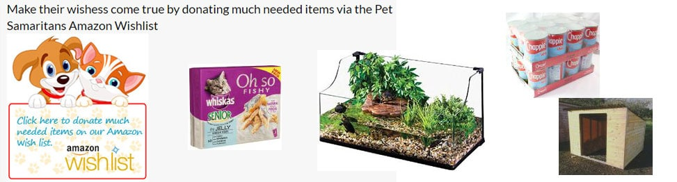 Pet Samaritans Amazon Wishlist