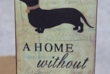 preloved - dog plaque