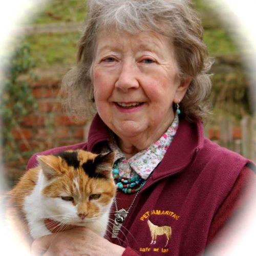 Joan Bentley with her beloved cat Grondahl