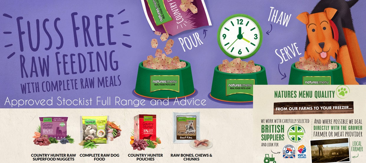 Natures Menu Stockist Derbyshire