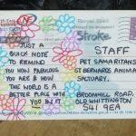 thankyou sanctuary postcard