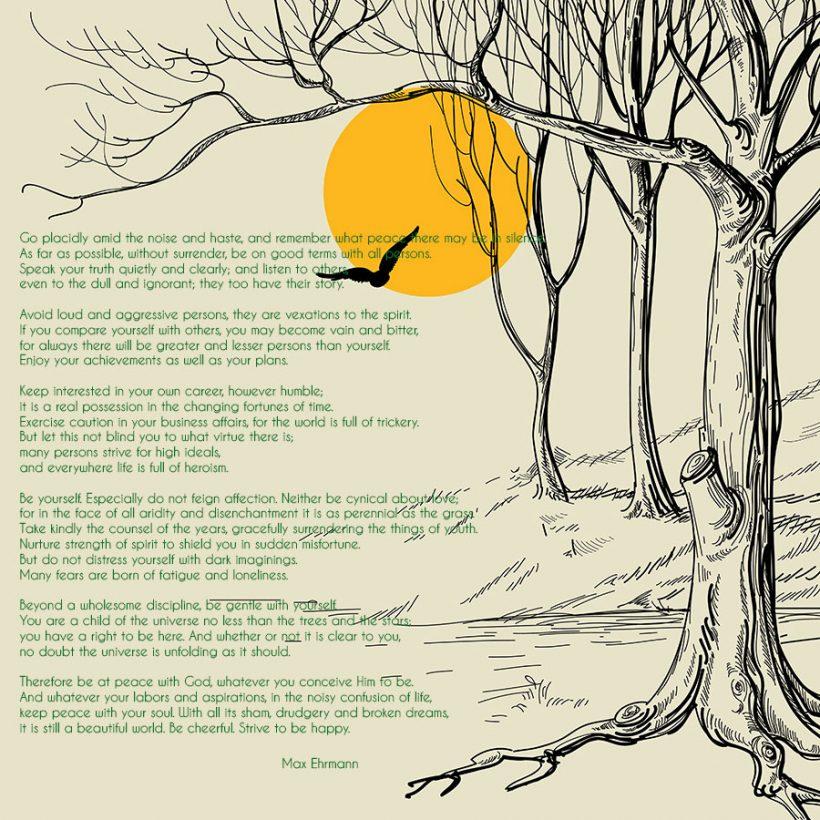 Desiderata – Poem for Sunday
