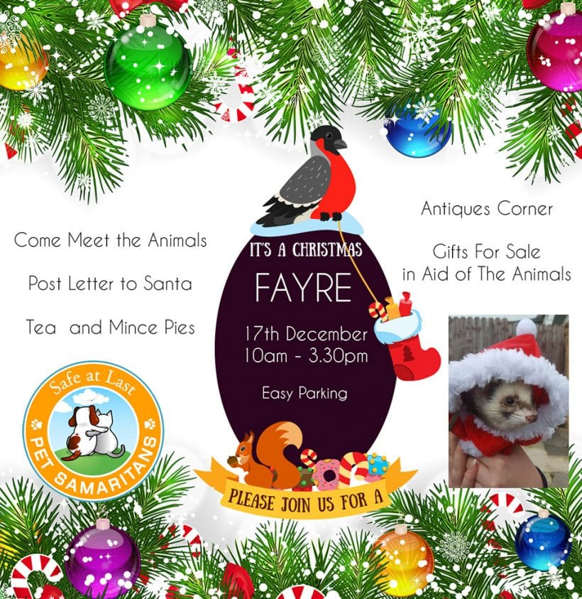 Christmas Fayre Open Day 17th December at the Animal Sanctuary