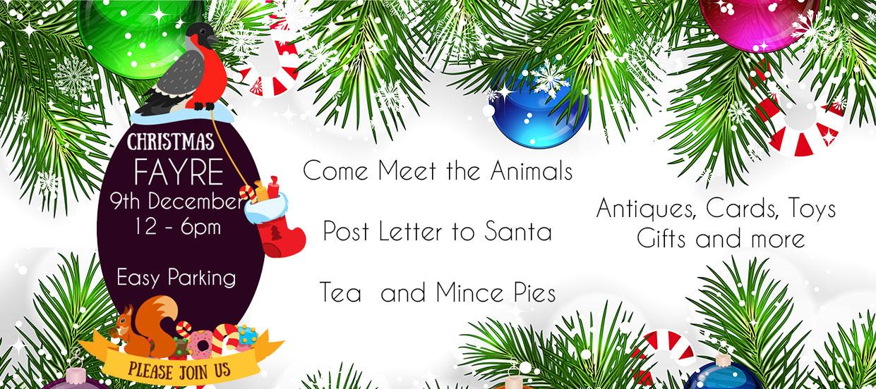 Christmas Fair at the animal sanctuary