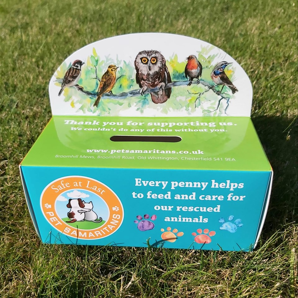 Home collection boxes pet samaritans