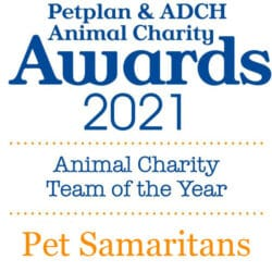 Pet Samaritans nominated for the Petplan Animal Charity Team Of The Year